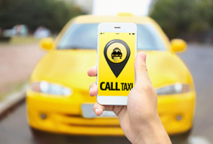 Uber, Lift and Yellow Taxi Cab Phone App Right Share Programs
